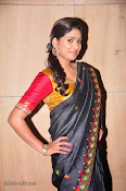 Actress Maneesha Photos in Saree-thumbnail-9