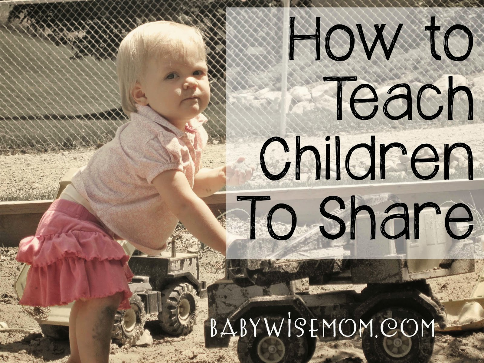 How To Teach Children to Share