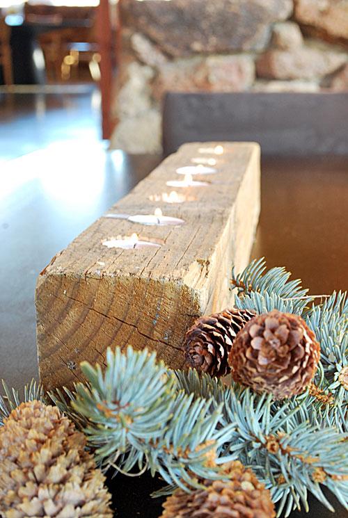 DIY wood votive candle holder