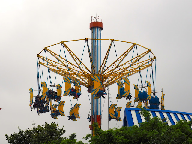 Whirly bird ride in Thrill Mountain, Ocean Park, Hong Kong