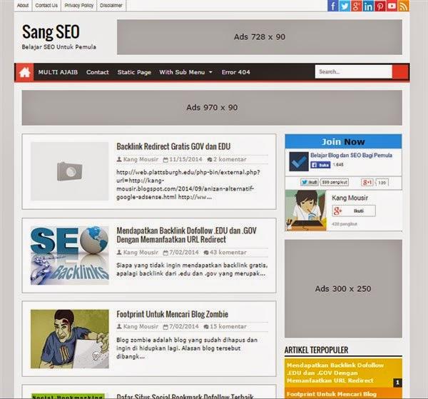Sang SEO Blogger template Responsive