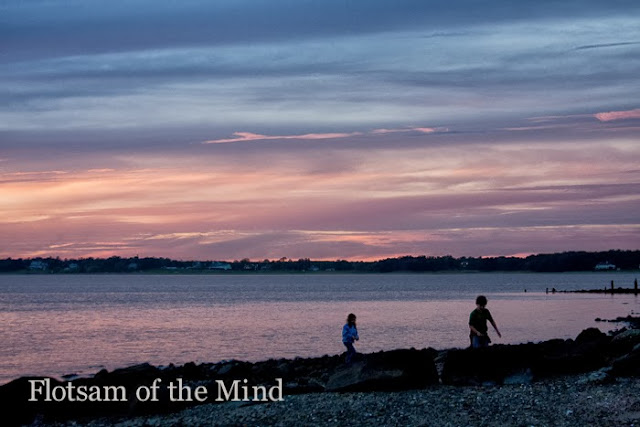 Purple Sunset on Narragansett Bay - Flotsam of the Mind