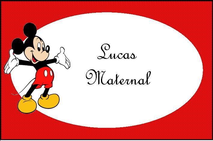 Mickey etiquetas - Imagui