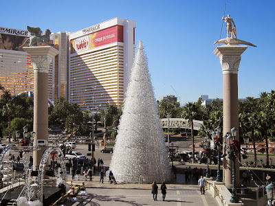 Las Vegas: The Christmas decoration at Venetian