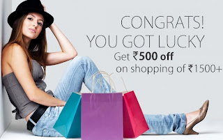 Enjoy Extra Rs.500 OFF on Cart Value of Rs.1500 & above @ Yebhi (Offer valid till 24th May13)