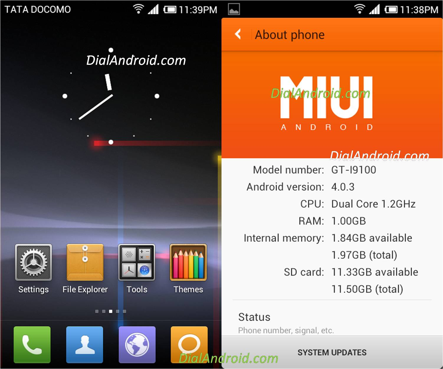 ... MIUI v4 ICS ROM on Galaxy S2 I9100 Android Fresh v2.1 with Video guide