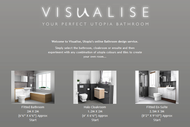Visualise Bathroom Planner Home Screen Utopia bathrooms