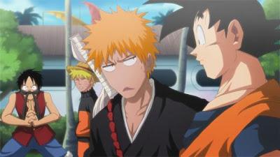 Naruto Luffy Ichigo Goku
