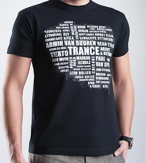 Koszulka trance - mapa Polski