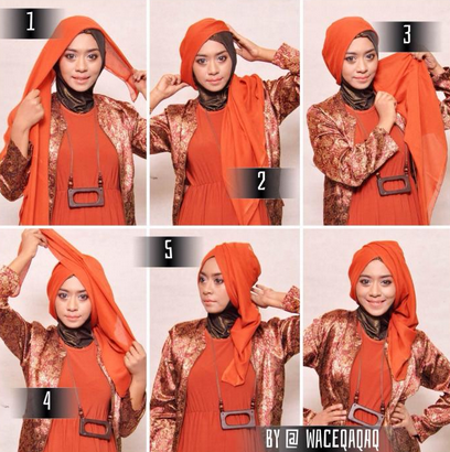 Tips Praktis Memakai Hijab Modern Segi Empat Terbaru 2016 image