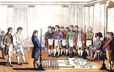 Freemason initiation ceremony ritual