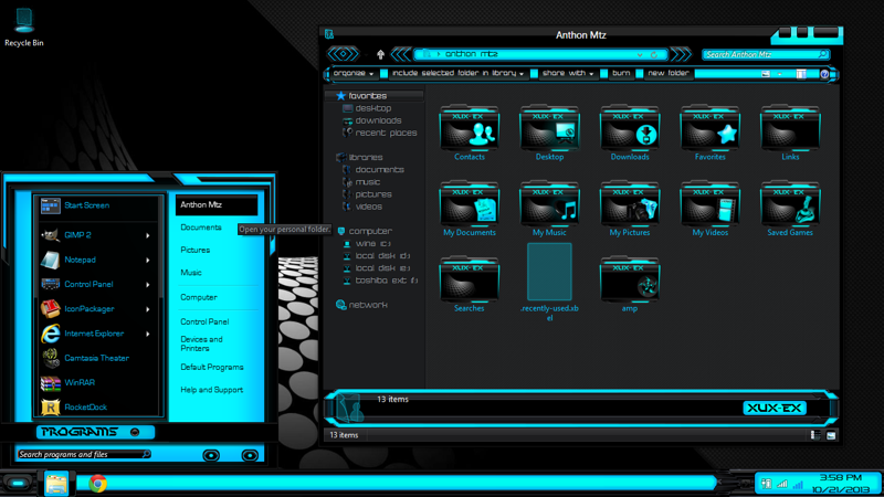 Windows 8 Themes Black Blue Xux-ek