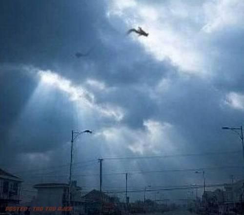 Gempar! - Kelibat Naga Dirakamkan Di Jiang Xi, China (2 Gambar)