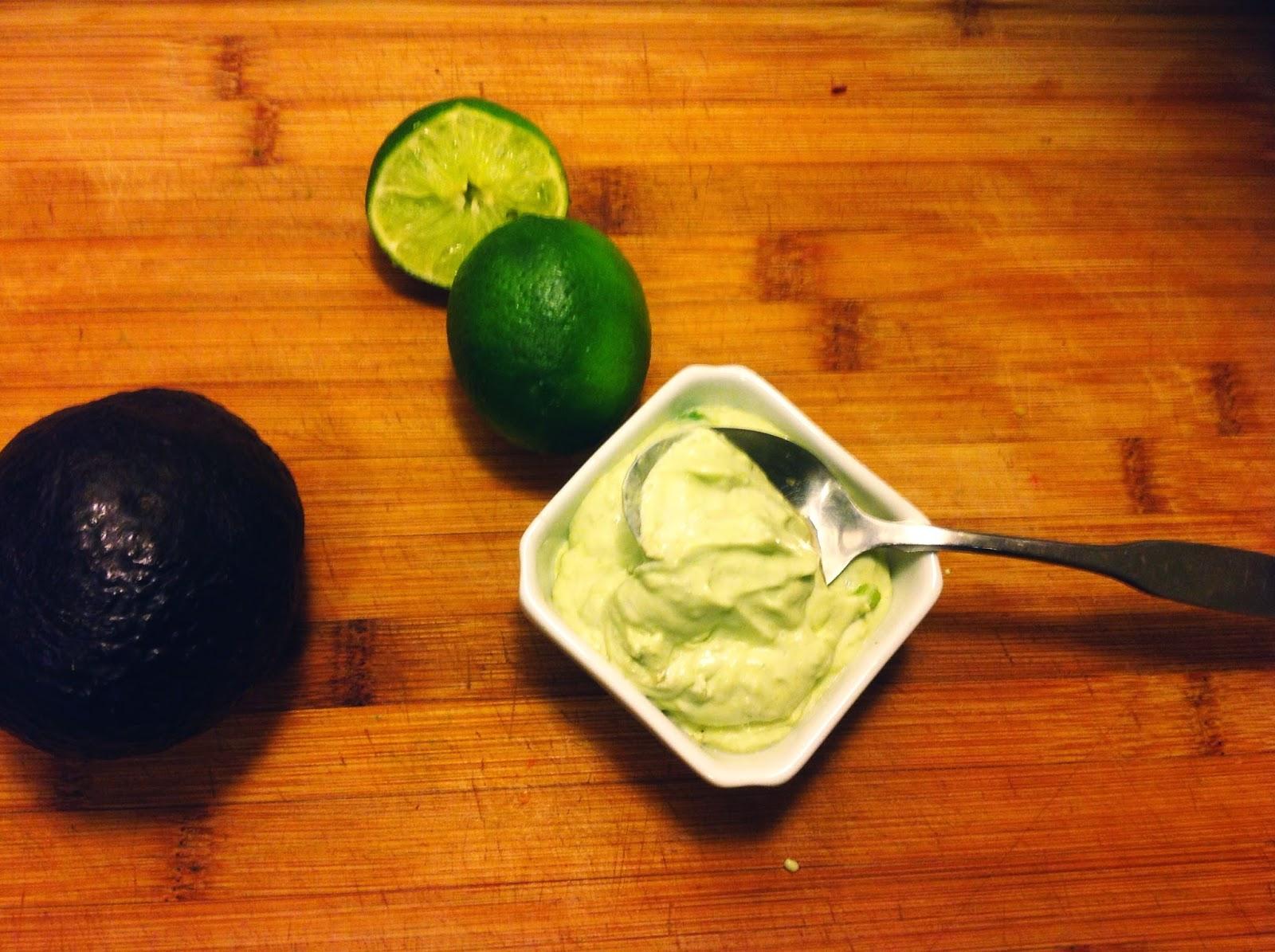vegan texmex style stuffed butternut squash with vegan avocado crema