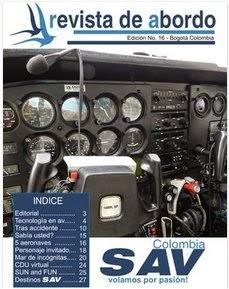 """Edición 16 de la """"revista de abordo"""" de SAV Colombia"""