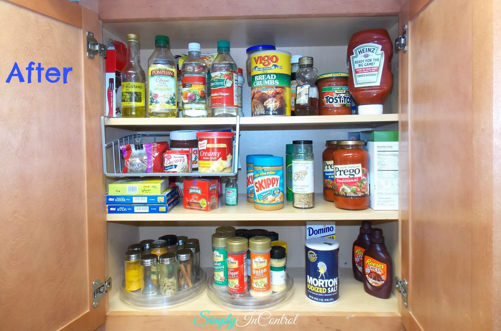 Simply in control small pantry organization for Small apartment kitchen storage