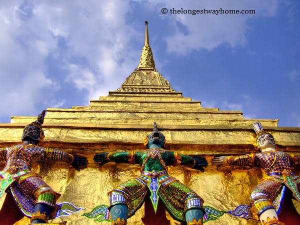Golden Temple from the Grand Palace in Bangkok