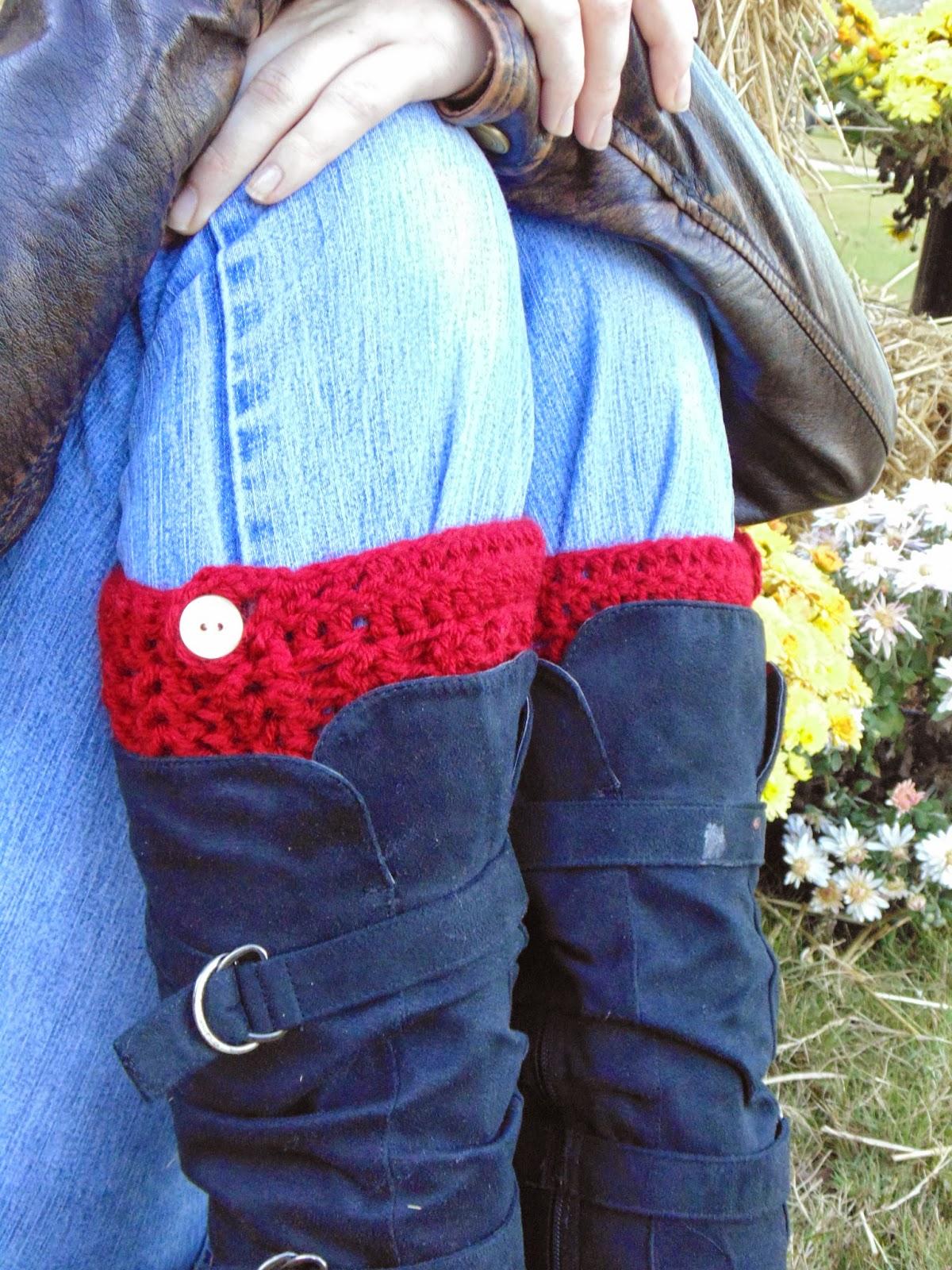 RAKJpatterns, free boot cuff crochet pattern, crochet pattern