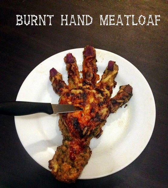 Gruesome Hand Meatloaf