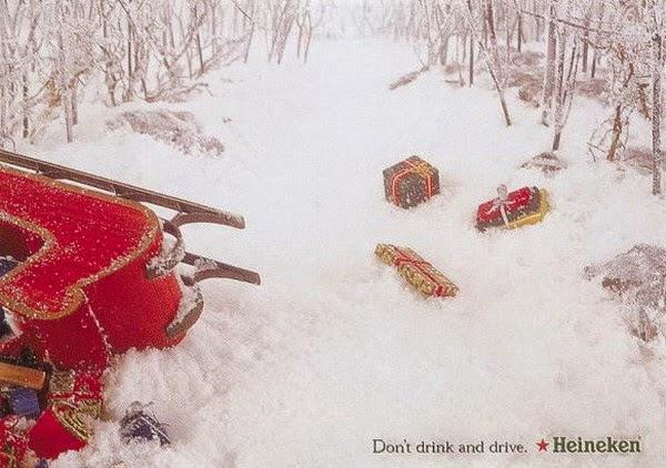 Publicidad creativa, navidad, Heineken