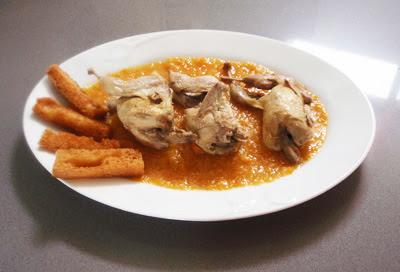 codornices en salsa