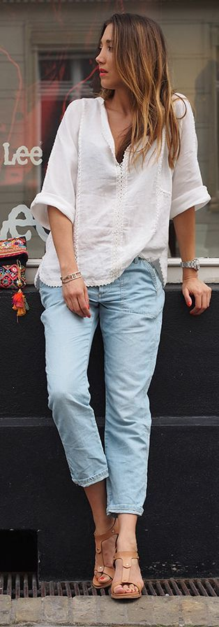 Weekend casuals with white & Blue