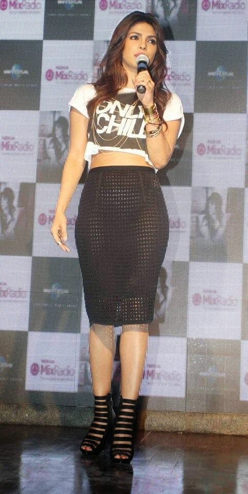 Priyanka Chopra in See-through Skirt