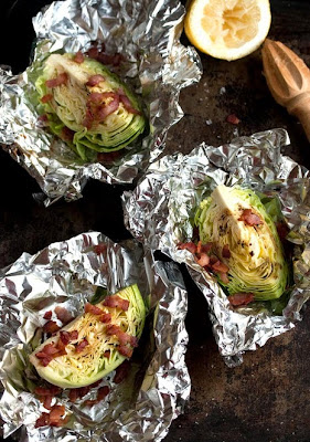 Roasted Cabbage with Bacon