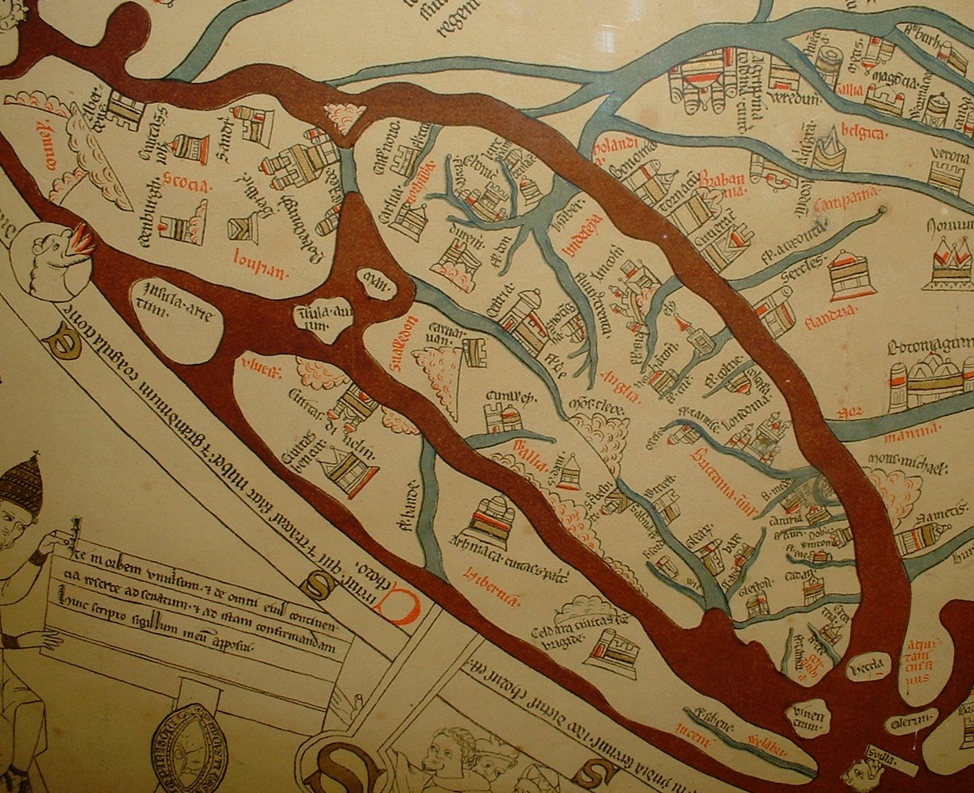 the mappa mundi meaning cloth of the world has spent most of its long life at hereford cathedral rarely emerging from behind its glass case