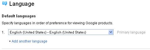 Google+ Language Options