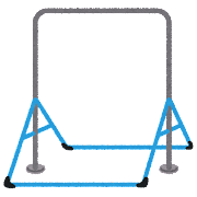 室内鉄棒のイラスト(体操)