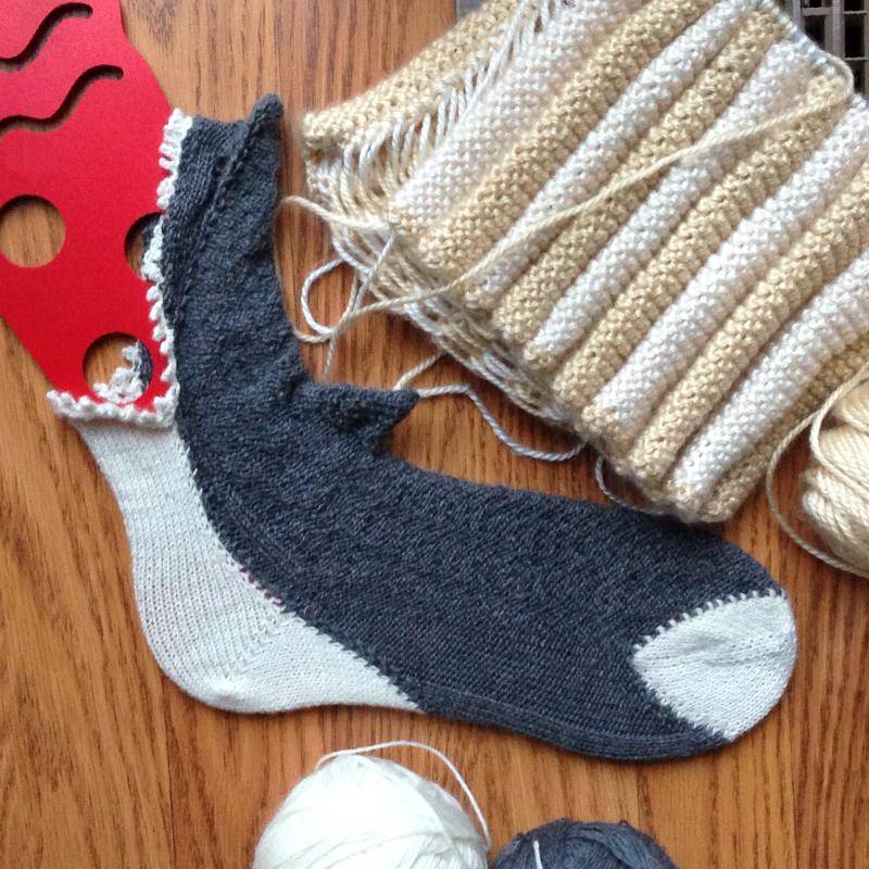 Shark Bed Socks Knitting Pattern : minding my own stitches: July 2013