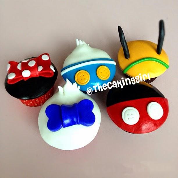 disney character cupcakes