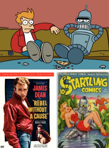 Futurama: James Dean + Startling Comic