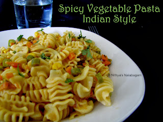 Vegetable Pasta Indian Style