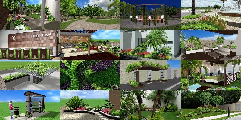 fotos imagenes modelos diseños jardines