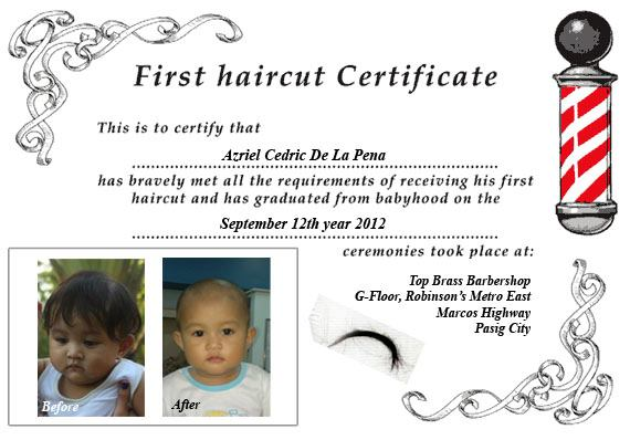 Free first haircut choice image haircuts for men and women free first haircut images haircuts for men and women my first haircut certificate template gallery haircuts yadclub Image collections