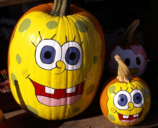 funny pumpkin painted design ideas