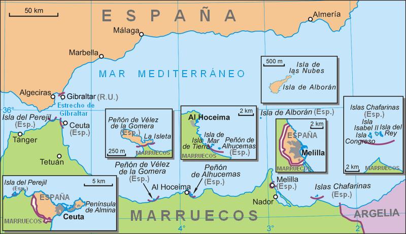 Gobernar el mundo los pe ones e islotes de espa a las for Piscine pronunciation