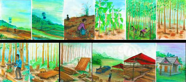 Forest Art Drawn by Orphans