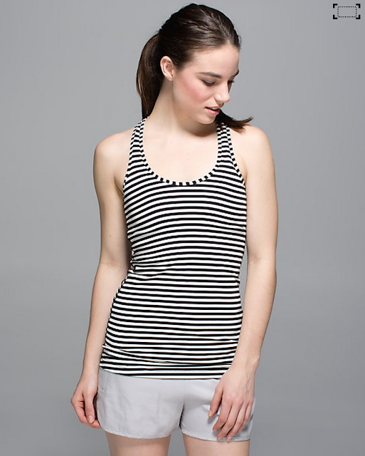 Narrow Bold Stripe Cool Racerback