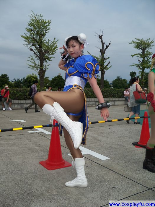 street fighter chun li sexy legs cosplay 02
