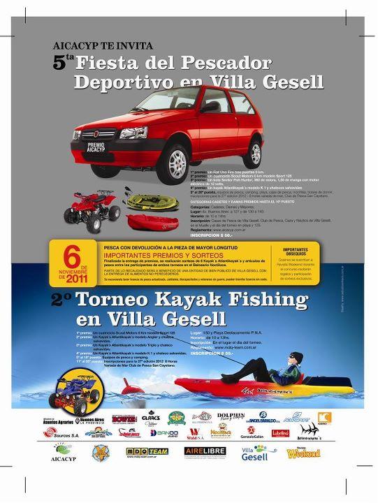 Tiempo de pescar 5a fiesta del pescador deportivo en for Temperatura actual en villa gesell