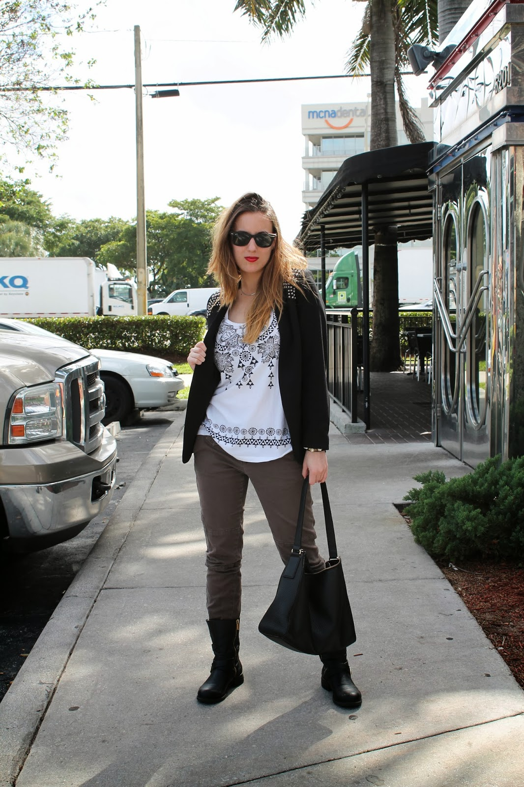 edgy, what i wore, fashion, look book, style, Miami, H&M, Nordstrom, Anthropologie, Jessica Simpson, BCBGeneration, Kate Spade, fashion blog
