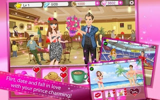 Screenshots of the Star Girl: Princess Gala for Android tablet, phone.