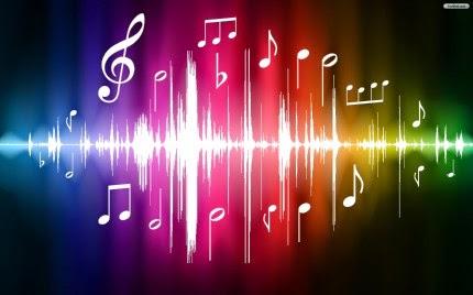 Music notes wavelength