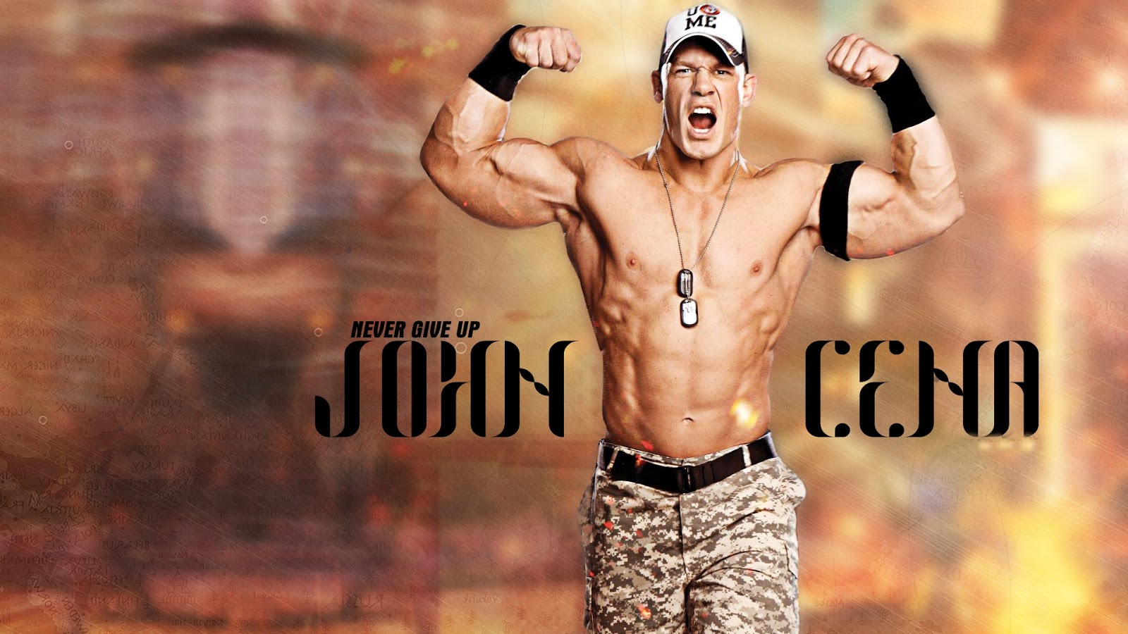 Never Give Up John Cena WWE Wallpaper HD