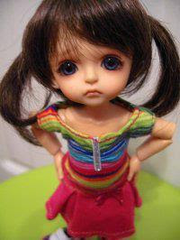 cute girl doll