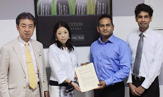 Toshi Noda and Megumi Saeki from Regional Plan Ltd Japan, Shiwantha Dias and Nishantha De Alwis of Spa Ceylon Ayurveda