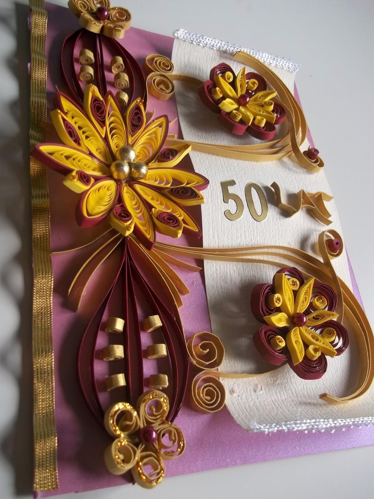 Kwiatowe rewelacje – kartka quilling urodzinowa